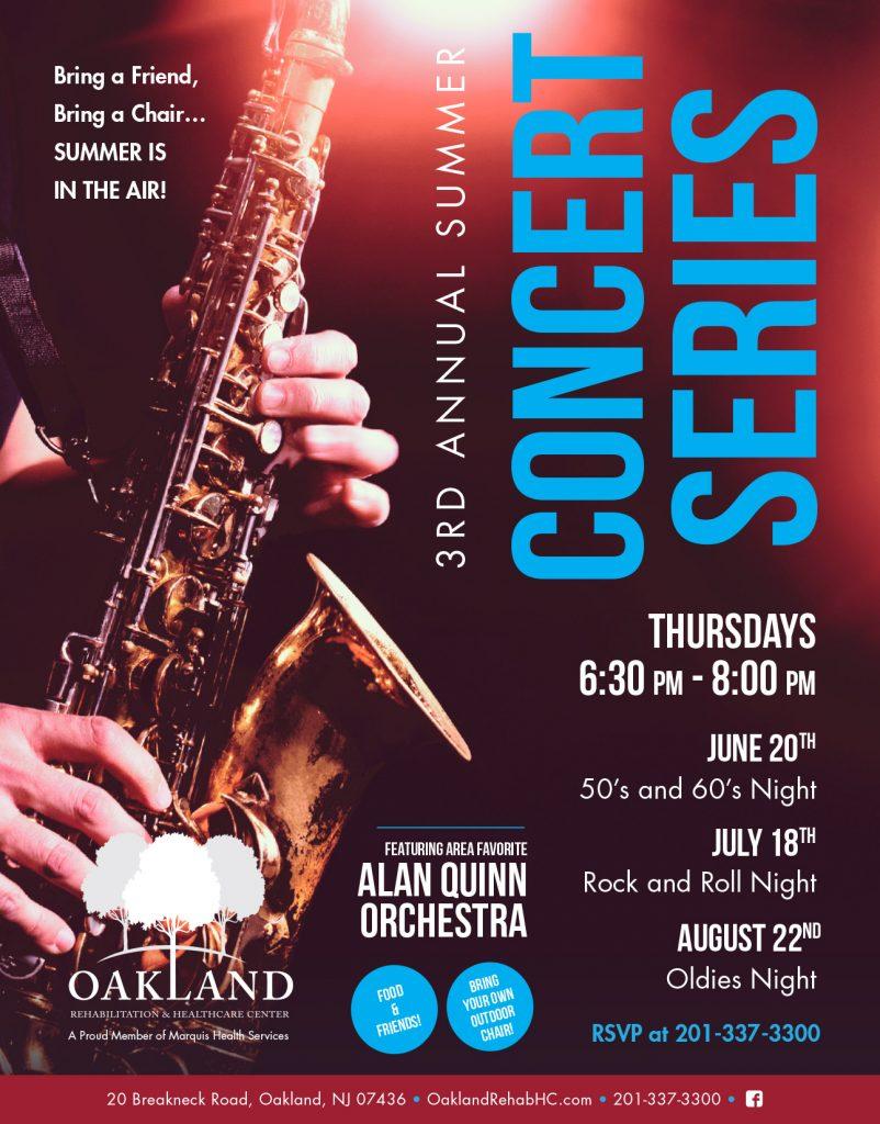 3rd Annual Summer Concert Series